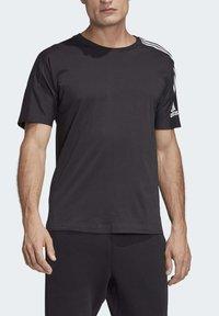 adidas Performance - ADIDAS Z.N.E. 3-STRIPES T-SHIRT - Print T-shirt - black - 7