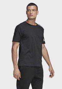 adidas Performance - ADIDAS Z.N.E. 3-STRIPES T-SHIRT - Print T-shirt - black - 3