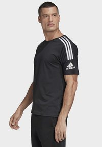 adidas Performance - ADIDAS Z.N.E. 3-STRIPES T-SHIRT - Print T-shirt - black - 2