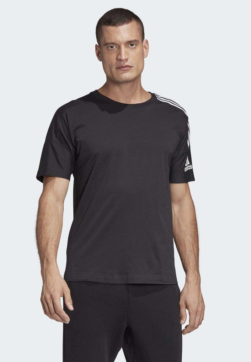 adidas Performance - ADIDAS Z.N.E. 3-STRIPES T-SHIRT - Print T-shirt - black