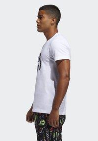 adidas Performance - HARDEN LOGO T-SHIRT - T-shirt z nadrukiem - white - 2
