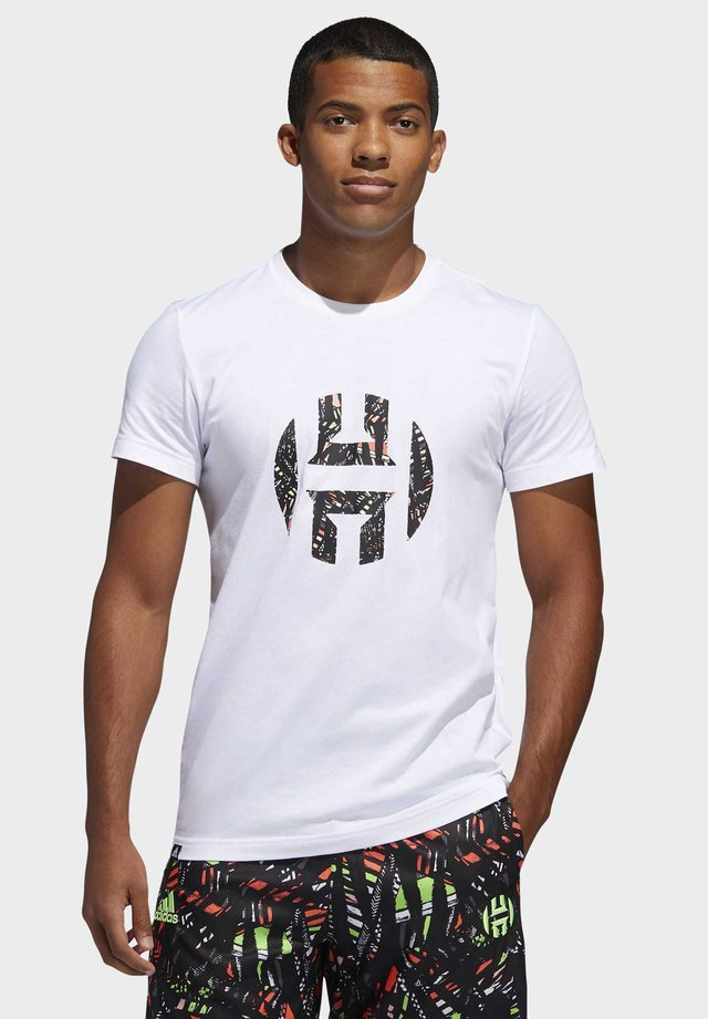 HARDEN LOGO T-SHIRT - T-Shirt print - white
