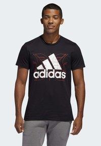adidas Performance - FUTURE COURTS T-SHIRT - T-shirts med print - black - 0