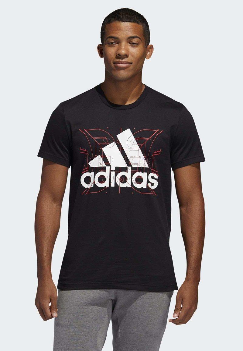 adidas Performance - FUTURE COURTS T-SHIRT - T-shirts med print - black