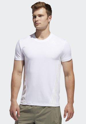 AEROREADY 3-STRIPES  - T-Shirt basic - white