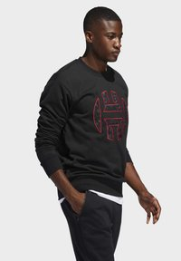 adidas Performance - HARDEN FLEECE CREW SWEATSHIRT - Sweatshirt - black - 3