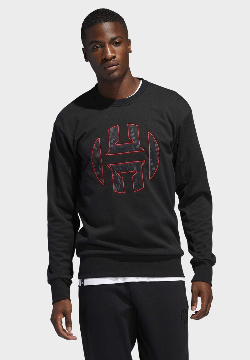 adidas Performance - HARDEN FLEECE CREW SWEATSHIRT - Sweatshirt - black