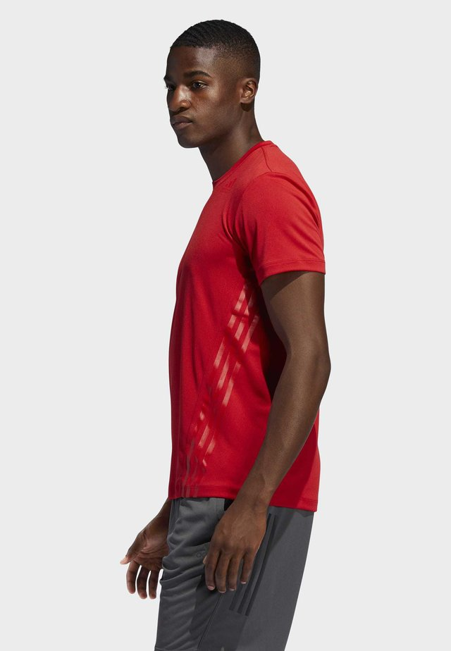 AEROREADY STRIPES - T-shirt con stampa - red