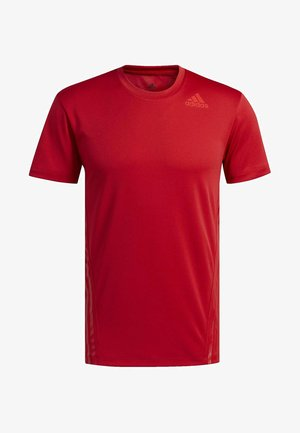 AEROREADY 3-STRIPES T-SHIRT - T-shirt imprimé - red