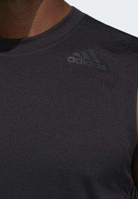 adidas Performance - AEROREADY 3-STRIPES  - Funktionströja - black - 4