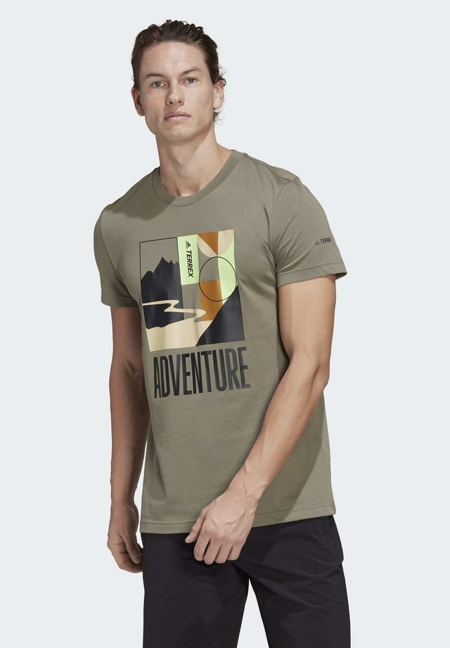 TERREX ADVENTURE T-SHIRT - T-Shirt print - green