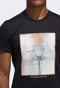 adidas Performance - GAME ON LOCK T-SHIRT - Print T-shirt - black - 5