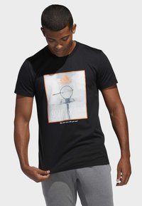 adidas Performance - GAME ON LOCK T-SHIRT - Print T-shirt - black - 0
