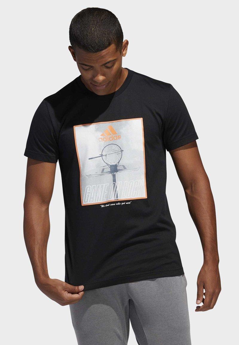 adidas Performance - GAME ON LOCK T-SHIRT - Print T-shirt - black
