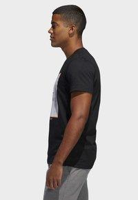adidas Performance - GAME ON LOCK T-SHIRT - Print T-shirt - black - 2