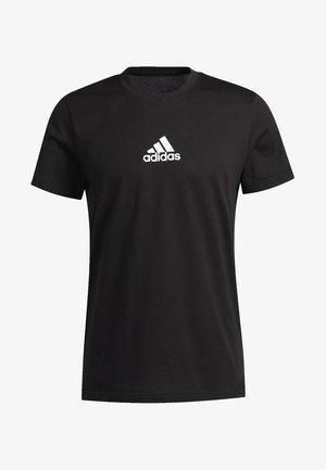 3-STRIPES SPRAY T-SHIRT - T-shirt imprimé - black