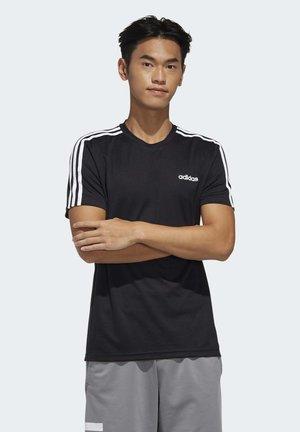 DESIGNED 2 MOVE 3-STRIPES T-SHIRT - Print T-shirt - black