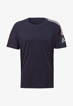 ADIDAS Z.N.E. 3-STRIPES T-SHIRT - T-shirt z nadrukiem - blue