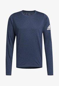 adidas Performance - FREELIFT SPORT HEATHER BADGE OF SPORT LONG-SLEEVE TOP - Sports shirt - mottled blue - 8