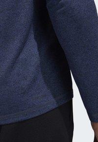 adidas Performance - FREELIFT SPORT HEATHER BADGE OF SPORT LONG-SLEEVE TOP - Sports shirt - mottled blue - 7