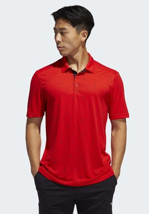 ADICROSS DRIVE POLO SHIRT - Sportshirt - red