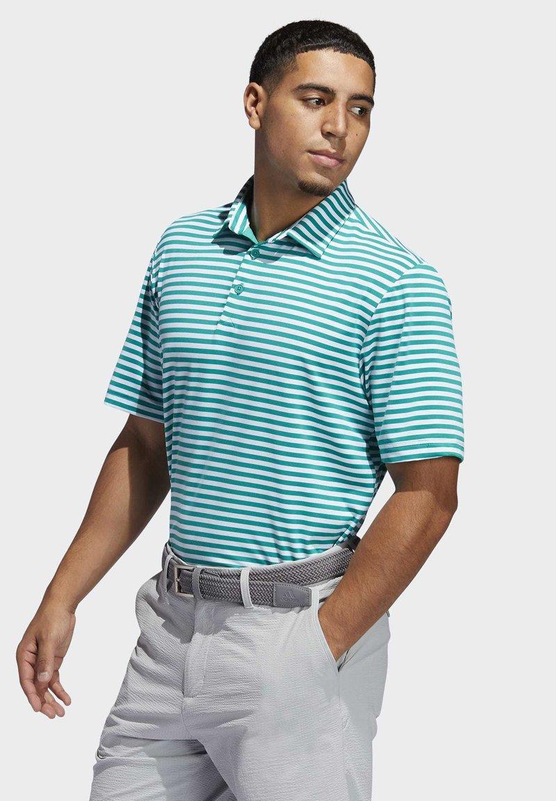 adidas Golf - ADIPURE ESSENTIAL STRIPE POLO SHIRT - Sports shirt - green