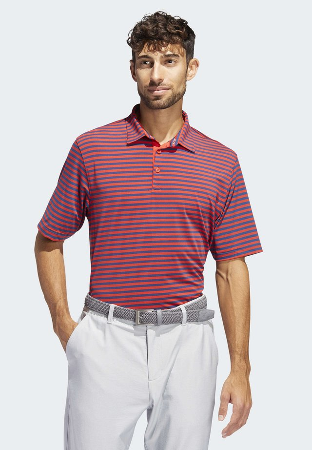 ADIPURE ESSENTIAL STRIPE POLO SHIRT - Koszulka sportowa - red