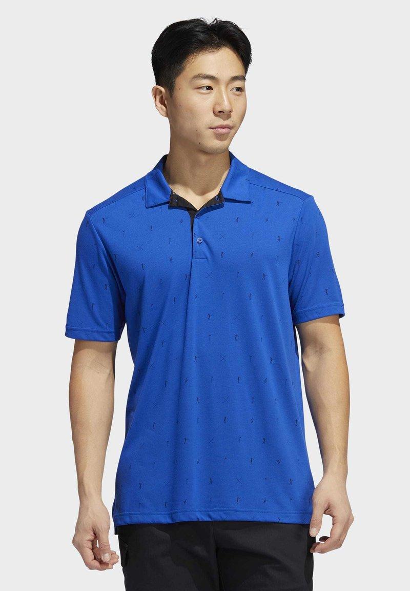 adidas Golf - ADICROSS DRIVE POLO SHIRT - Sports shirt - blue