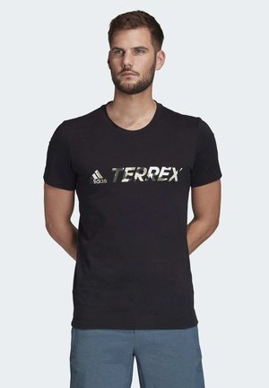 TERREX LOGO T-SHIRT - T-Shirt print - black