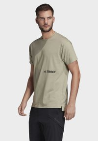 adidas Performance - TERREX PRIMEBLUE LOGO T-SHIRT - Print T-shirt - grey - 4