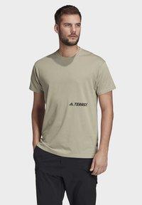 adidas Performance - TERREX PRIMEBLUE LOGO T-SHIRT - Print T-shirt - grey - 0