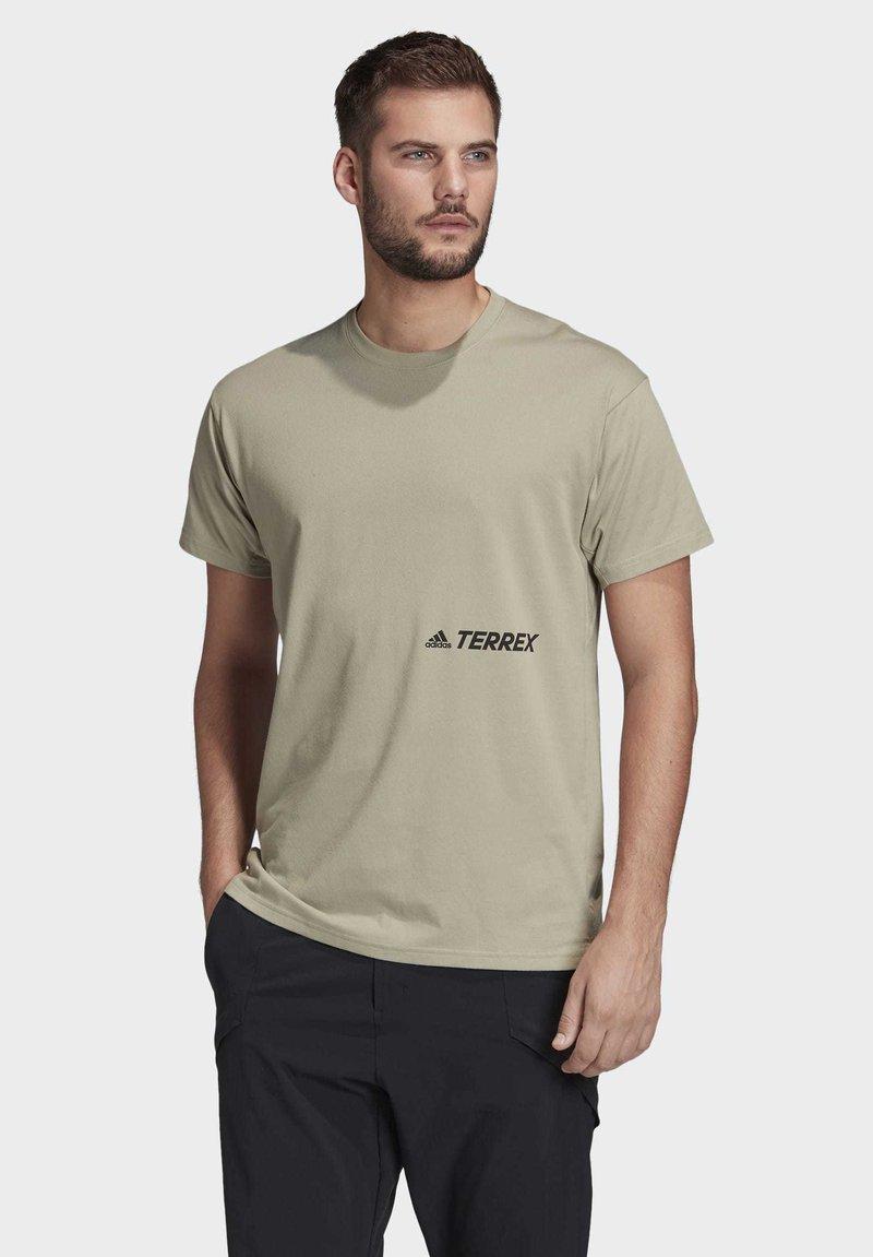 adidas Performance - TERREX PRIMEBLUE LOGO T-SHIRT - Print T-shirt - grey