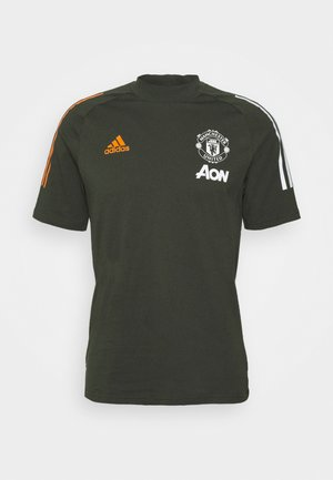 MANCHESTER UNITED FOOTBALL SHORT SLEEVE - Article de supporter - olive
