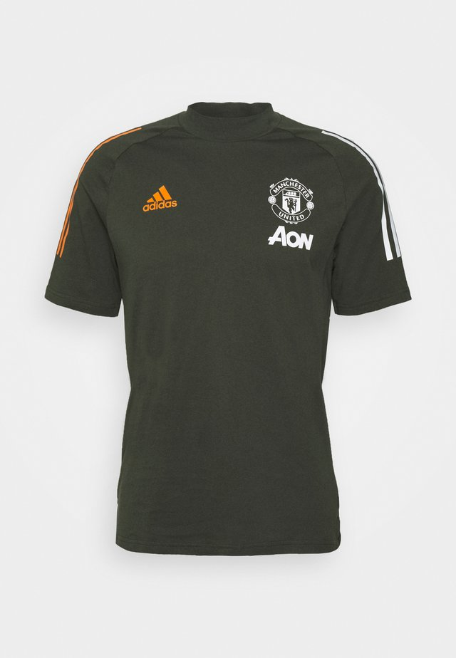 MANCHESTER UNITED FOOTBALL SHORT SLEEVE - Club wear - olive