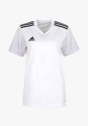 REGISTA  - T-shirt imprimé - white/black