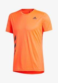 "adidas Performance - ADIDAS PERFORMANCE HERREN LAUFSHIRT ""RUN IT TEE PB 3 STRIPES"" - Print T-shirt - orange - 3"