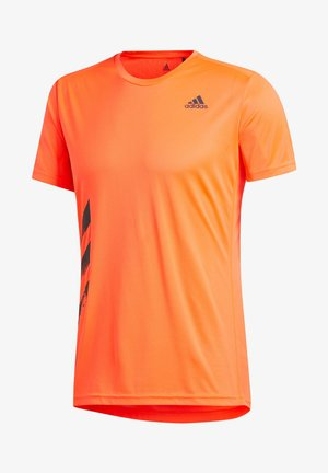 "ADIDAS PERFORMANCE HERREN LAUFSHIRT ""RUN IT TEE PB 3 STRIPES"" - T-Shirt print - orange"