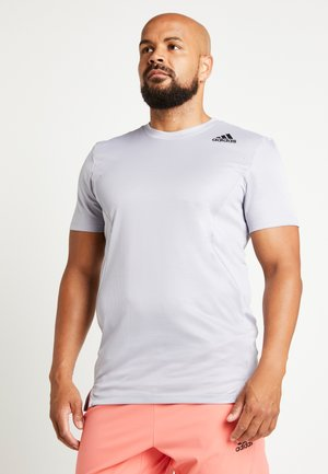 HEAT.RDY TRAINING SLIM SHORT SLEEVE TEE - T-shirt z nadrukiem - glow grey