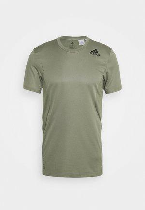 HEAT.RDY TRAINING SLIM SHORT SLEEVE TEE - T-shirt z nadrukiem - legend green