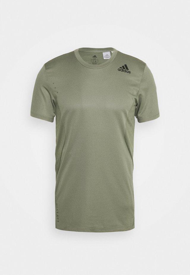 HEAT.RDY TRAINING SLIM SHORT SLEEVE TEE - T-Shirt print - legend green