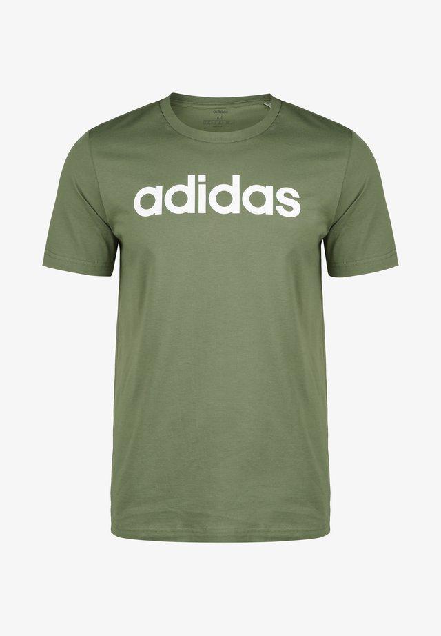 LINEAR - T-shirt med print - legacy green/white