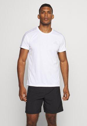 RESPONSE PRIMEGREEN RUNNING SHORT SLEEVE TEE - T-shirt imprimé - white