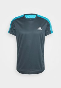 adidas Performance - RESPONSE PRIMEGREEN RUNNING SHORT SLEEVE TEE - Triko s potiskem - dark blue - 3