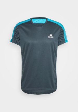 RESPONSE PRIMEGREEN RUNNING SHORT SLEEVE TEE - Print T-shirt - dark blue
