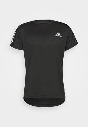 RESPONSE PRIMEGREEN RUNNING SHORT SLEEVE TEE - T-shirts med print - black