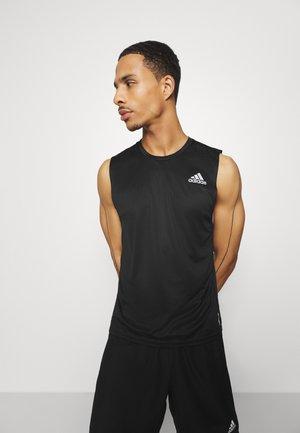 SLEEVELESS - Sports shirt - black