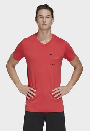 TERREX GRAPHIC T-SHIRT - Print T-shirt - red