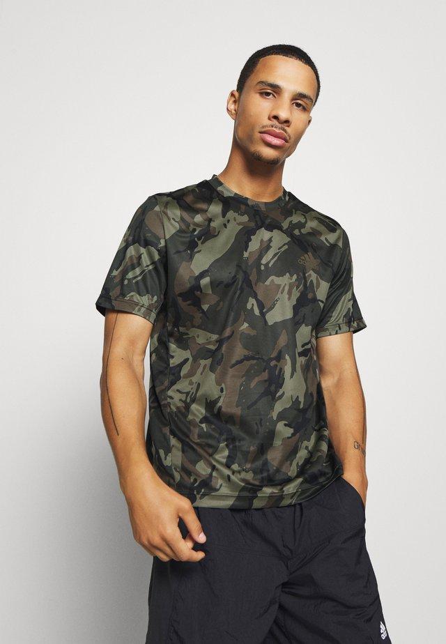 TEE - T-shirt print - legend green/black