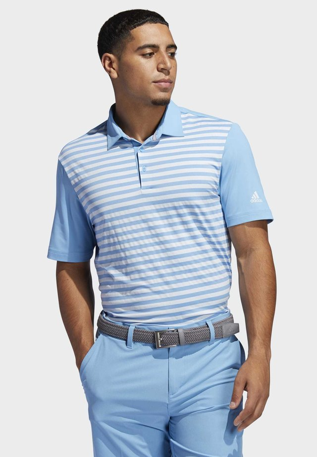 ULTIMATE365 STRIPE POLO SHIRT - Funktionstrøjer - blue