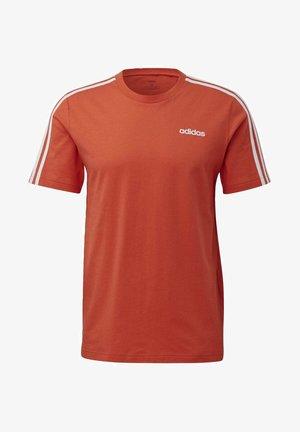 ESSENTIALS 3-STRIPES T-SHIRT - T-shirt print - orange